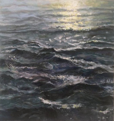 painting of study of waves